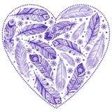 Coração bonito do dia de Valentim ilustração stock