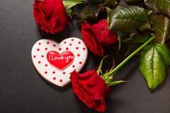 Coração bonito do pão-de-espécie Imagem de Stock