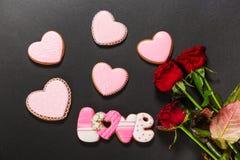 Coração bonito do pão-de-espécie Fotografia de Stock Royalty Free