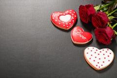 Coração bonito do pão-de-espécie Imagens de Stock
