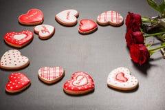 Coração bonito do pão-de-espécie Foto de Stock Royalty Free