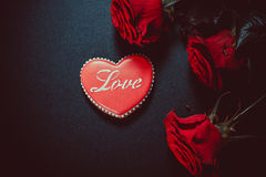 Coração bonito do pão-de-espécie Foto de Stock