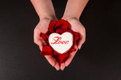 Coração bonito do pão-de-espécie Imagem de Stock Royalty Free
