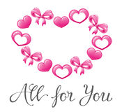 Coração bonito para o dia de Valentim feliz Fotos de Stock Royalty Free