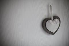 Coração branco Foto de Stock