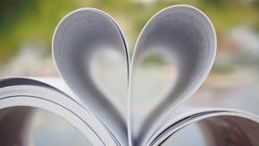 Coração branco Fotografia de Stock