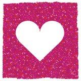 Coração branco Fotografia de Stock Royalty Free