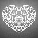 Coração branco abstrato Foto de Stock Royalty Free