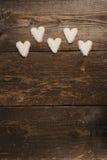 Coração branco das cookies Imagem de Stock Royalty Free