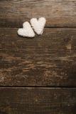 Coração branco das cookies Foto de Stock Royalty Free
