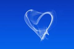 Coração branco do fumo Fotos de Stock Royalty Free