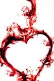 Coração branco vermelho Fotos de Stock