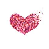 Coração brilhante As bolhas projetam, feriados, dia do ` s do Valentim Fotos de Stock