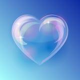 Coração brilhante da bolha ilustração stock