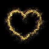Coração brilhante do ouro do vetor Foto de Stock