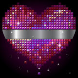 Coração brilhante do rhinestone Imagem de Stock