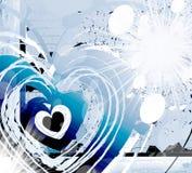 Coração brilhante pesado Fotos de Stock