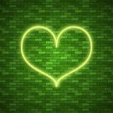 Coração brilhante Sinal de néon azul retro do coração ilustração stock