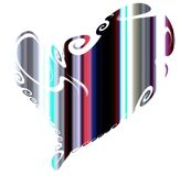 Coração brincalhão, contrastes e linhas Fundo do Valentim ilustração do vetor