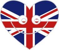 Coração britânico ilustração royalty free