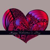 Coração carmesim do Valentim Fotos de Stock Royalty Free