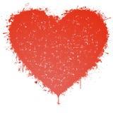 Coração chapinhado Imagens de Stock Royalty Free