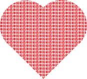 Coração chinês com frase afortunada Imagens de Stock