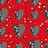 Coração cinzento Imagem de Stock