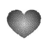 Coração cinzento abstrato Ilustração do vetor ilustração royalty free