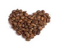 Coração - coffeebeans imagens de stock