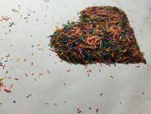 Coração colorido Foto de Stock Royalty Free