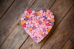 Coração colorido feito a mão Imagem de Stock Royalty Free