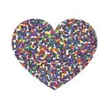Coração colorido sumário Ilustração do vetor ilustração stock