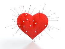 Coração com agulhas ilustração do vetor