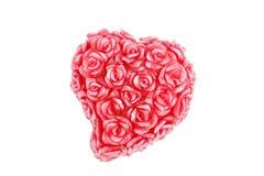 Coração com as rosas feitas da cera imagem de stock