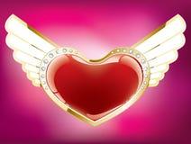 Coração com asas Ilustração do Vetor