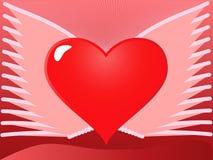 Coração com asas Imagem de Stock Royalty Free
