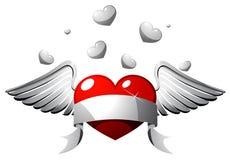 Coração com asas Imagens de Stock Royalty Free