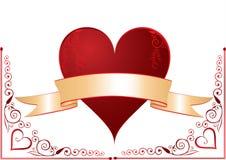 Coração com bandeira Fotos de Stock