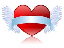 Coração com bandeira ilustração stock