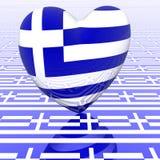 Coração com bandeira Fotografia de Stock