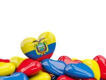 Coração com a bandeira de Equador ilustração royalty free