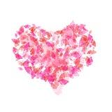 Coração com borboletas ilustração do vetor