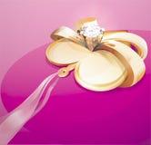 Coração com diamante Fotos de Stock