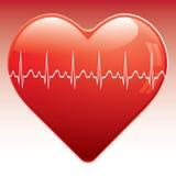 Coração com ekg. Imagem de Stock