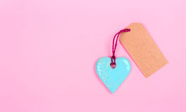 Coração com Empty tag Foto de Stock Royalty Free