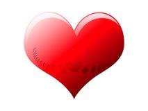 Coração com entalhes gravados Fotos de Stock