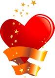 Coração com estrelas ilustração stock