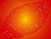 Coração com estrelas Fotografia de Stock