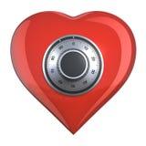 Coração com fechamento de combinação Fotos de Stock